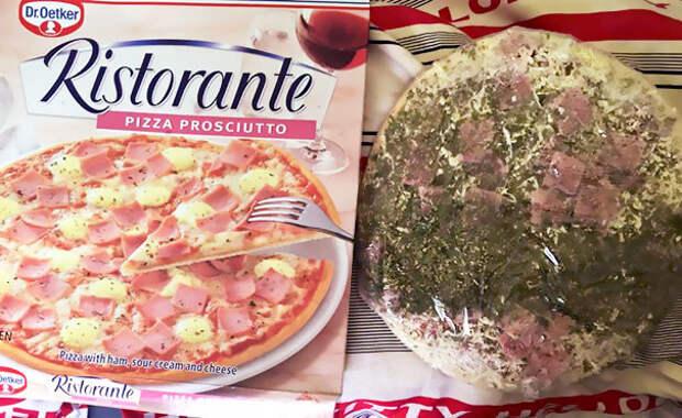 Вообще-то коробка не обещала зеленой пиццы еда, кругом обман, продукты