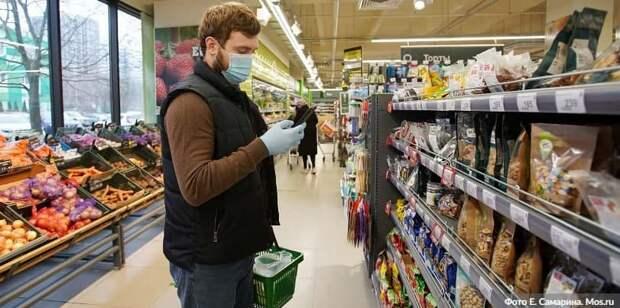 В трех ТЦ на севере Москвы оштрафовали 68 покупателей без масок и перчаток/Фото: Е. Самарин mos.ru