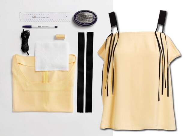 Переделка блузки.