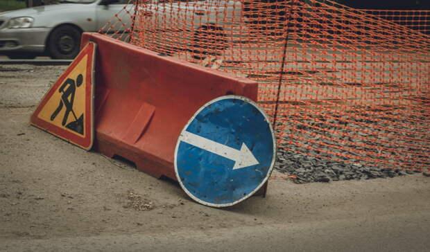 Огромную пробку на Борском мосту спровоцировал провал грунта