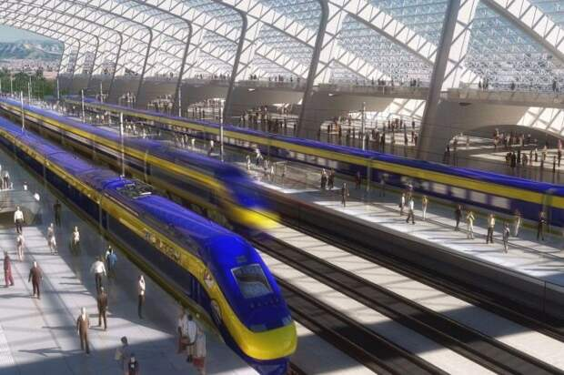 California high speed rail. | Фото: Los Angeles Times.
