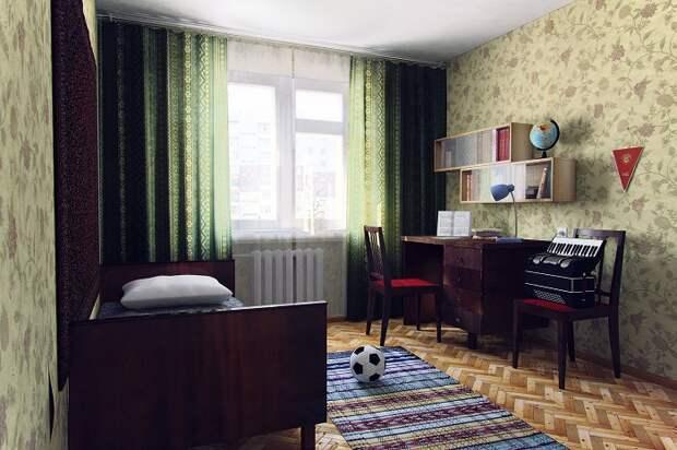Песочные обои с цветами, характерные для советских квартир, вышли из моды. / Фото: evrookna-mos.ru