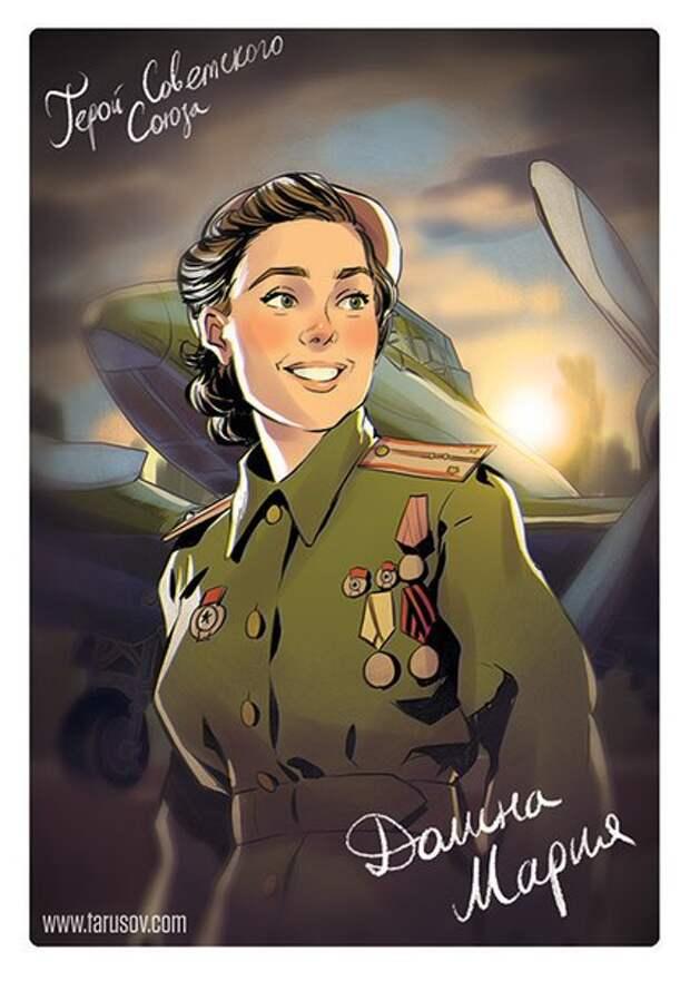 Художник изобразил женщин-героев Великой Отечественной в стиле «пин-ап»