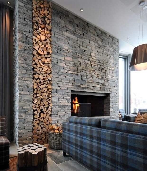 Стены в гостиной - невероятно Фабрика идей, дизайн, дом, интерьер, камни, красота