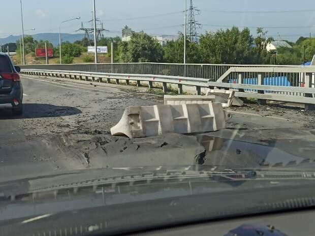 В Тольятти на трассе М5 наконец  построили москвичи мостовой переход на ГЭС