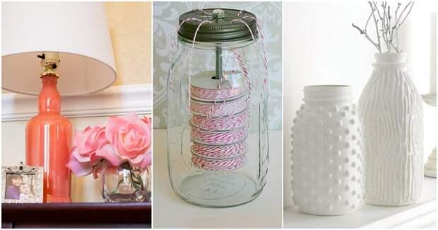 Полезные и интересные способы использовать красивые стеклянные бутылки