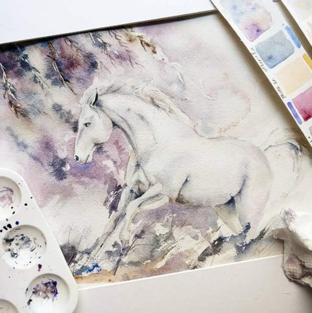 Красивые акварели от Ангелины Лигоминой