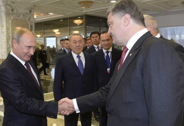 Встреча Путина иПорошенко вМинске