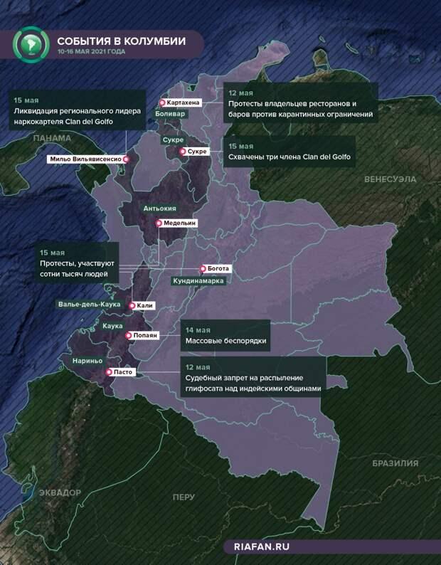 Будни Колумбии: борьба с протестами, наркокартелями и COVID-19