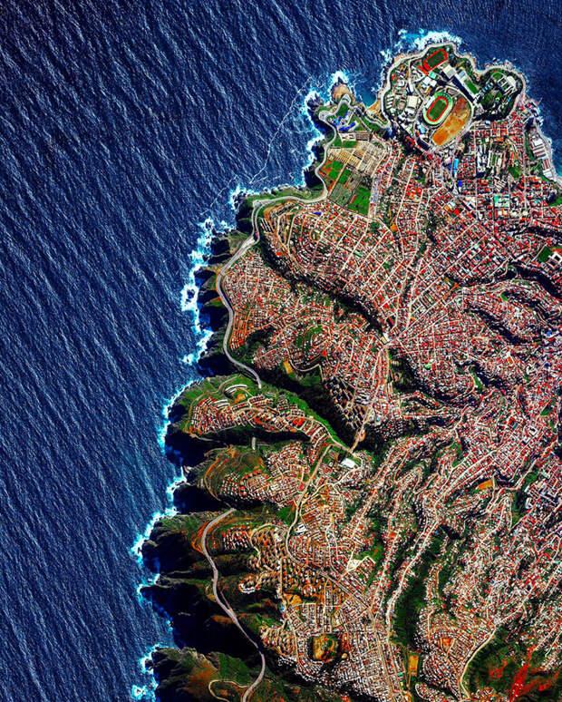 3. Вальпараисо, Чили фото со спутника, фотограф Бенджамин Грант, фотографии