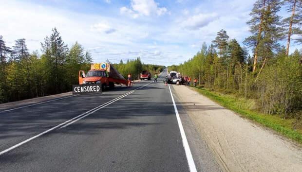 Два человека пострадали в аварии на севере Карелии на трассе «Кола»
