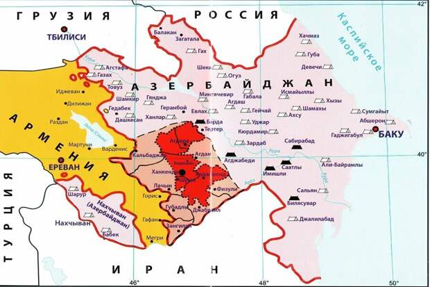 Алиев и Пашинян в ролях Бегина и Садата