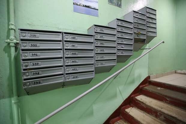 В подъезде дома на Руставели установили почтовые ящики