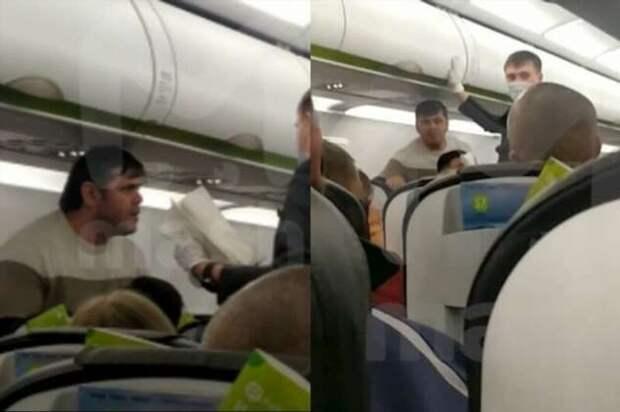 Ты просишь соблюдать меры безопасности, но ты просишь без уважения: буйный омич задержал авиарейс (3 фото + 1 видео)