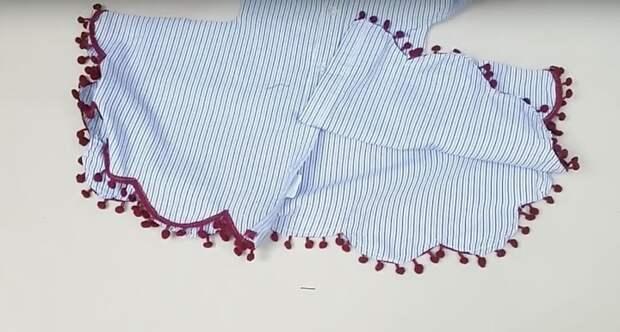 Превратите старую рубашку в модное платье
