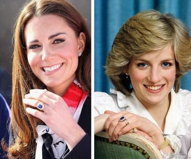 Помолвочное кольцо принцессы Дианы и Кейт Миддлтон. / Фото: zen.yandex.ru