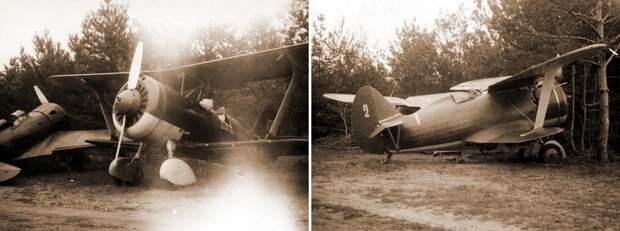 Самолёты 42-го ИАП, повреждённые и оставленные при отступлении на аэродроме Ораны 22 июня 1941 года. - Вынужденные драться? С удовольствием! | Военно-исторический портал Warspot.ru