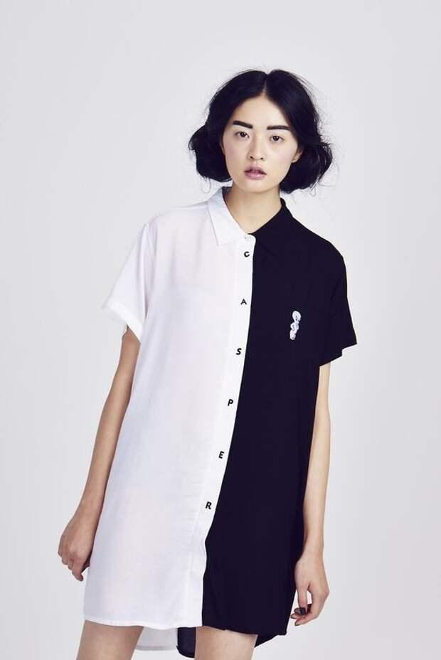Платье рубашка из двух