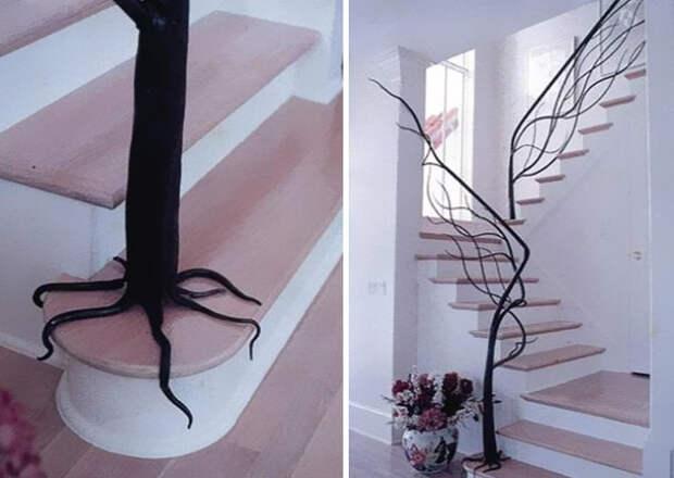 дизайн лестниц на мансарду