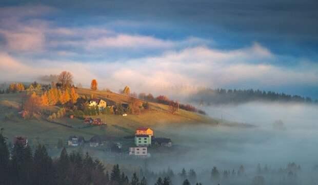 Невероятные пейзажи с туманом