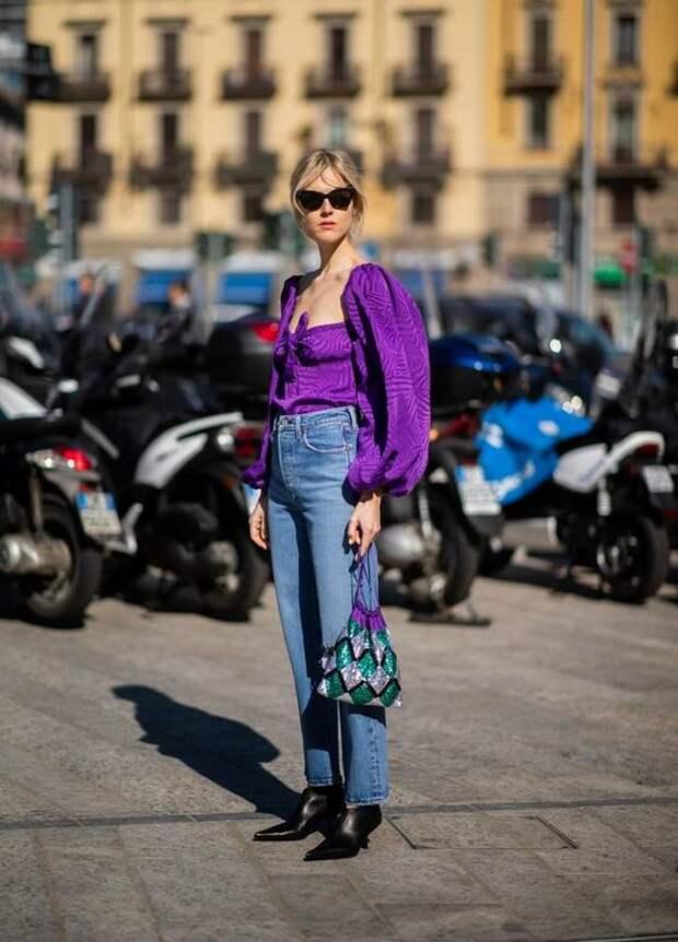 Образы с фиолетовым цветом на весну: 5 простых, но стильных вариантов