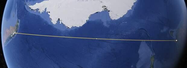 Прямой маршрут между Австралией и Чили