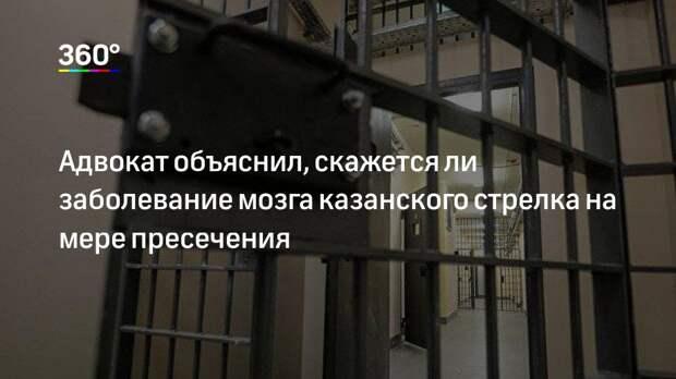 Адвокат объяснил, скажется ли заболевание мозга казанского стрелка на мере пресечения