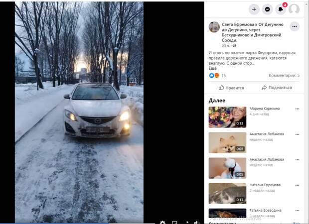 В парк имени Федорова ворвался автомобиль