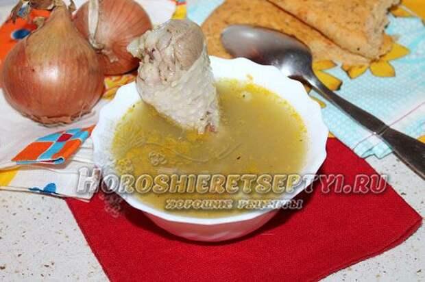 Суп с вермишелью и курицей