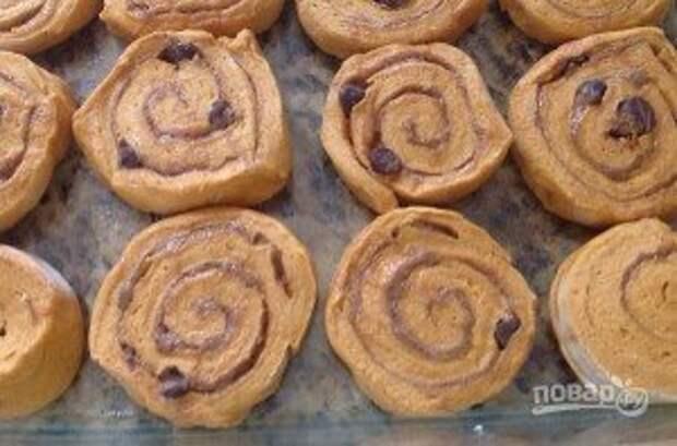 Тыквенно-шоколадные булочки - фото шаг 13