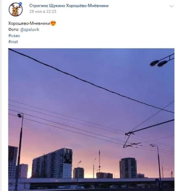 Фото дня: сиреневый восход