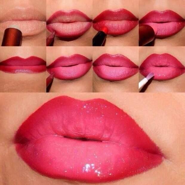 Тонкости нанесения губной помады для создания объема губ