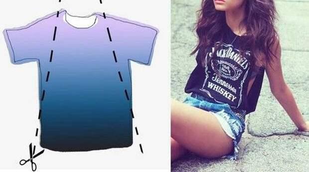 Переделки рокерских футболок (подборка diy)