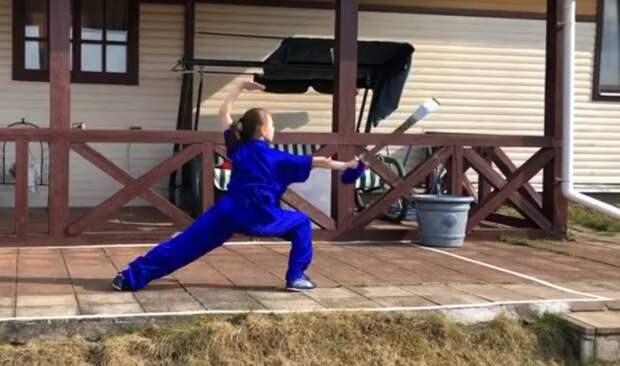 Школьница из района Сокол отличилась на чемпионате России по ушу Фото: кадр из выступления
