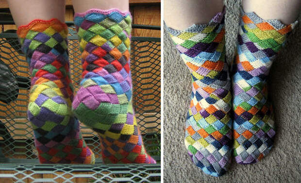 Радужные носки вязание, новый год, подарки