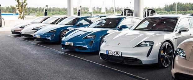 Поставки электрического Porsche Taycan впервые обошли классический 911