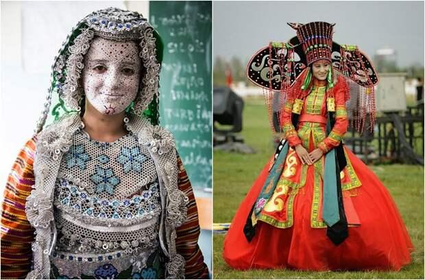 Свадебные убранства разных народов мира.