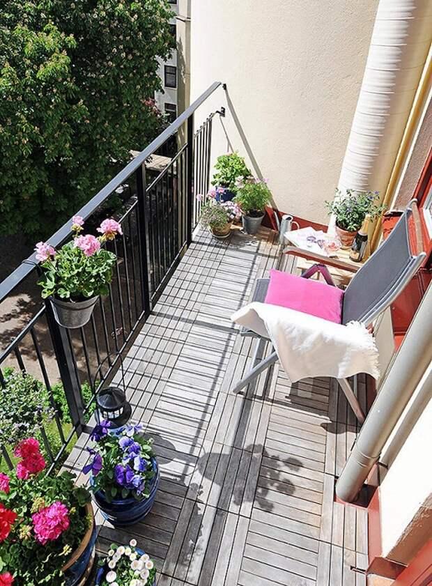 Отменный интерьер и прекрасное оформление балкона, что вдохновит.