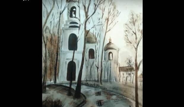 В центре «Строгино» открылась выставка картин, написанных углём и пастелью