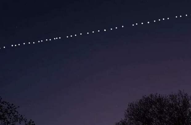 Спутники Илона Маска летают над Молдовой. Вы сможете увидеть их в небе в течение месяца