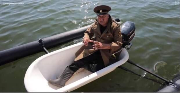 Финн приплыл в Эстонию в ванной