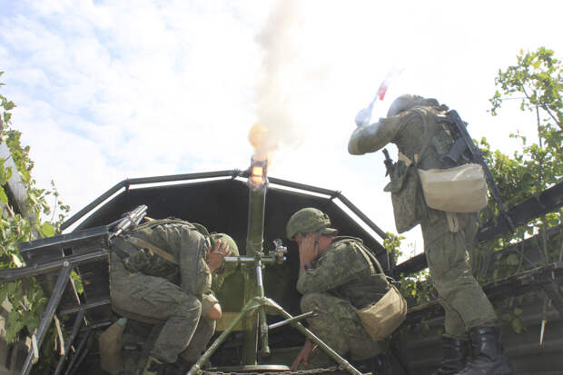 Минометчики ЮВО в Ставропольском крае приступили к испытанию новой методики скоростной стрельбы с применением беспилотной авиации