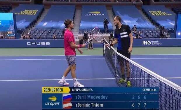 Россиянин Медведев не смог выйти в финал Открытого чемпионата США по теннису