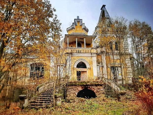 Нынешнее состояние дворца Гаслера. Фото моё, октябрь 2019 г.