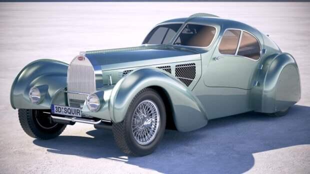 Bugatti Type 57s Aerolithe авто, автодизайн, концепт