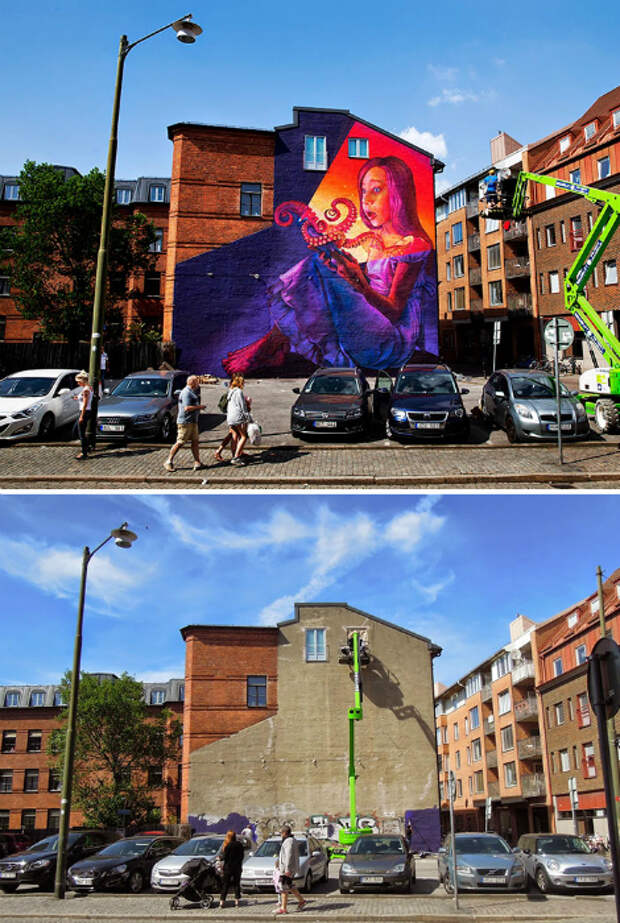 Искусство, арт: 23 примера невероятной трансформации невзрачных фасадов в великолепные произведения искусства