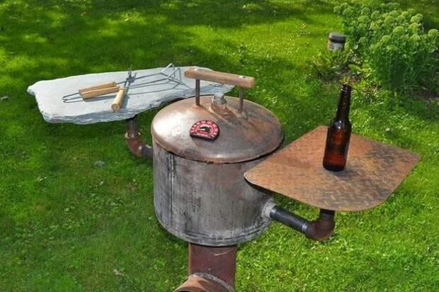 Этот самодельный гриль просто идеален для пикников на природе гриль, пикник, своими руками
