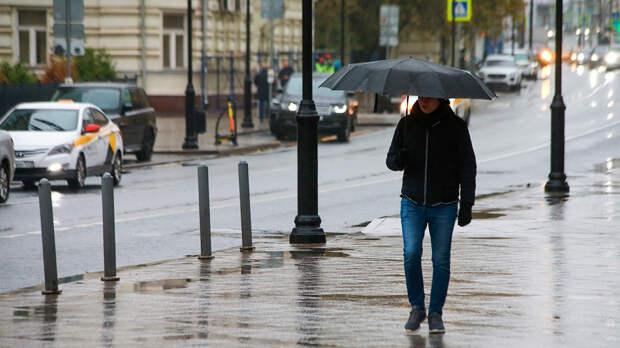 Небольшие осадки в виде дождя и мокрого снега ожидают москвичей 18 октября