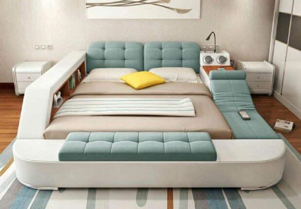 Современная и функциональная кровать. | Фото: Retete Usoare.