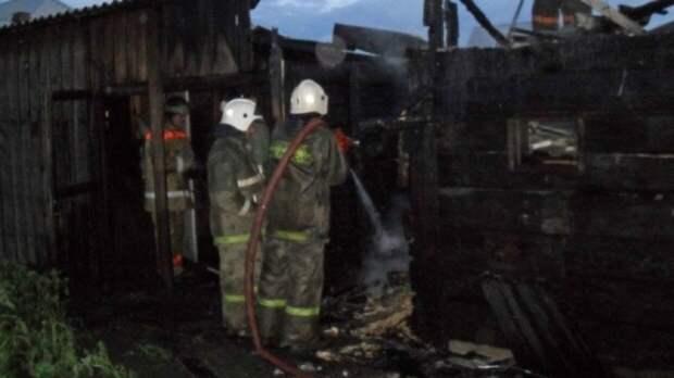 Спасатели нашли на пепелище в Оренбургской области трупы женщины и двоих детей